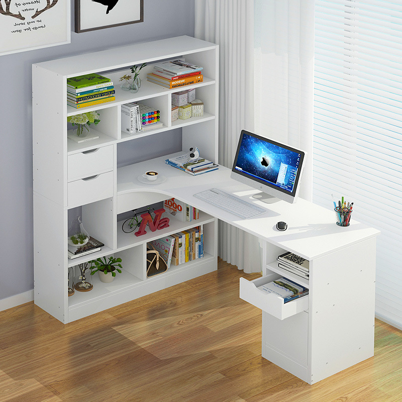 On Behalf Of Computer Table-Table Student Household Economical Bookcase Desk Combination One-piece Table Simple Writing Desk