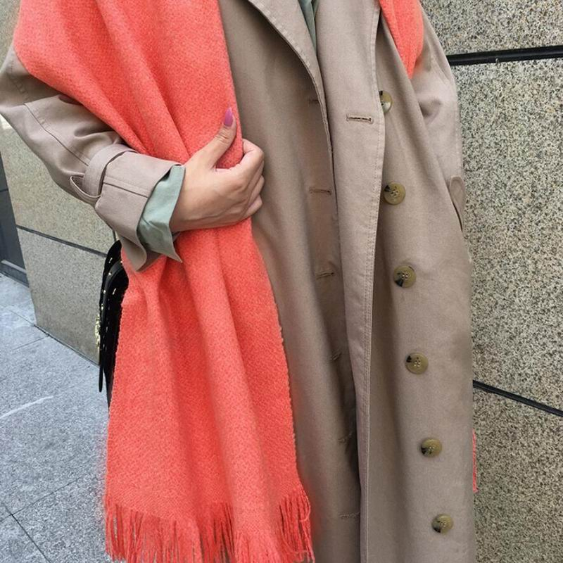Nouvelle laine écharpe femmes haute qualité spécial laine écharpes chaud Orange rouge châles hiver dame cadeau livraison gratuite