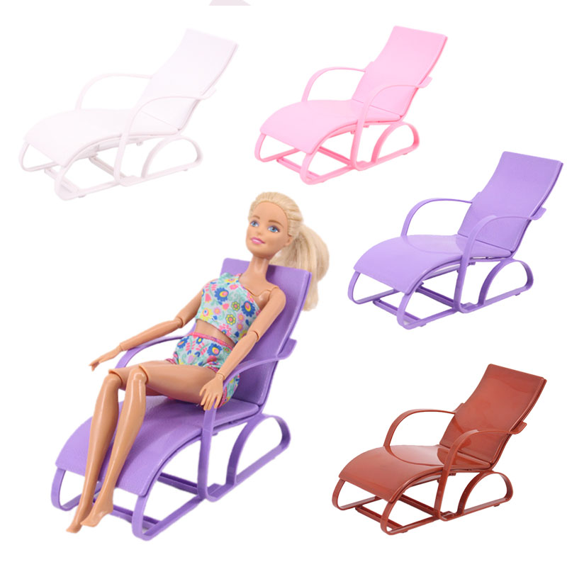 Beach Lounge Chairs Barbie Doll Accessories House Furniture Gift