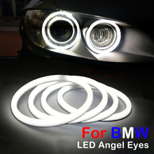 цена на 100mm 106mm 120mm Halo Rings Cotton Light SMD LED Angel Eyes For BMW E46 Coupe 2D Cabrio Z4 E92 Car-styling lamp