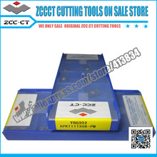 50pcs YBG302 APKT11T308-PM APKT11T308 APKT 11T308-pm ZCC. CT carbure CNC outil de fraisage(China)