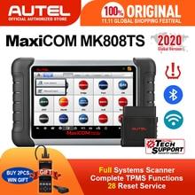 AUTEL MaxiCOM MK808TS TPMS samochodowe narzędzie diagnostyczne narzędzie do programowania TPMS narzędzie do pomiaru ciśnienia w oponach skaner obd2 pk mp808ts mk808bt