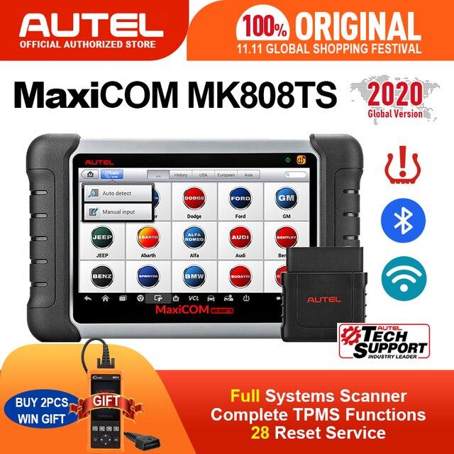 Autel maxicom MK808TS tpms自動車診断ツールtpmsプログラミングツールタイヤ空気圧ツールobd2スキャナpk mp808ts mk808bt