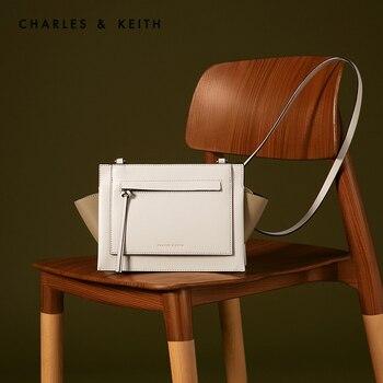 CHARLES&KEITH Новинка на Весну 2020г. CK2-80781043 Женская минималистская сумка на плечо через плечо на сплошной цвет фото