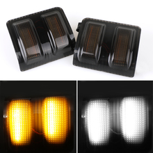 Turn Signal Light LED Side Marker Sequential Blinker Led Amber White Lamp 2PCS For F-150 13-14,F-250,F-350,F-450,F-550 08-16