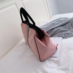 Image 4 - Sports Gym Bag Travel Handbag Women Traveling Bags Lady Luggage Tas Sac De Sport Duffle Gymtas 2020 Striped OutdoorB ag XA286D
