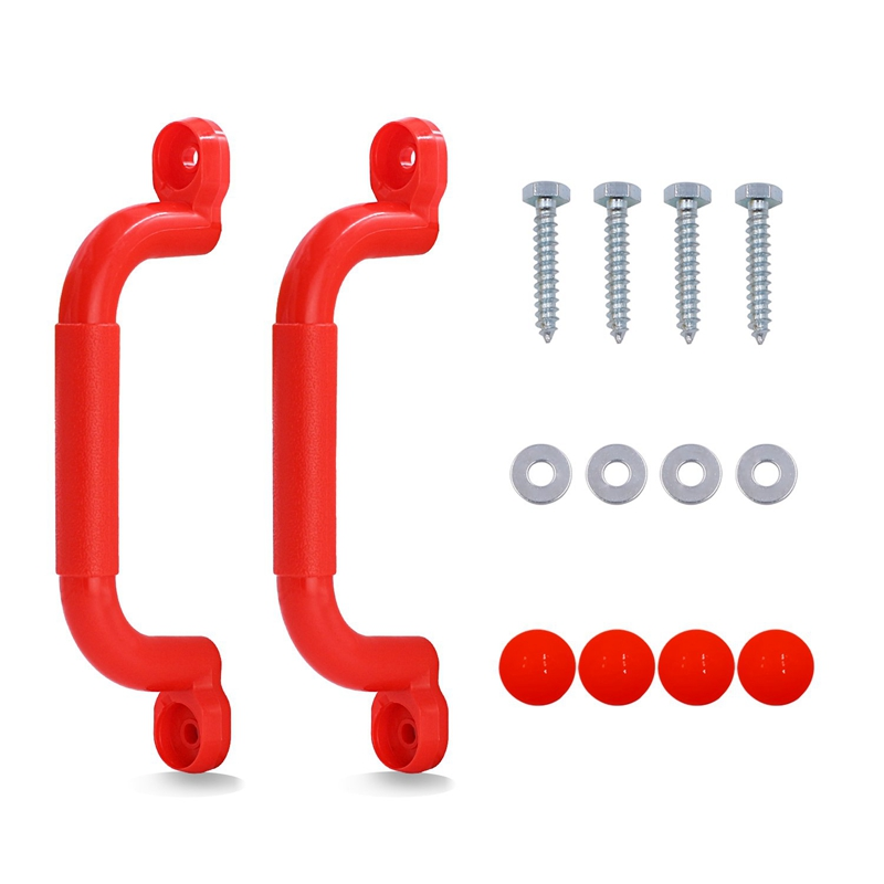 1 Pair Children Playground Nonslip Handle Mounting Hardware Kits Climbing Frame Stair Handrail Swing Outdoor Sports Toy Accessor|  - title=