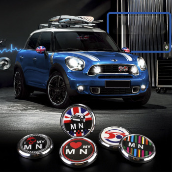 3D Front Bumper Grill Emblem Badge Sticker For MINI Cooper JCW S One Countryman R60 R55 R56 R61 F54 F56 F57 F60 Accessories ambermile 3d metal car stickers rear trunk tail emblem for mini cooper s r55 r56 r57 r58 r59 r60 r61 f54 f55 f56 f60 accessories