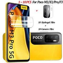 1 10 pcs,Hydrogel Film For Xiaomi Poco M3 Pro 5G Soft Glass Poco M 3 Pro Screen Protector Poco X3 NFC Hidrogel Little F3 m3 pro