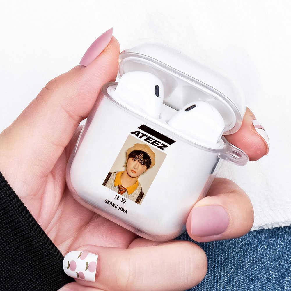 لطيف ATEEZ HongJoong SeongHWA حقيبة سماعة الاذن ل Aipods 1 2 غطاء لينة ل بلوتوث سماعة Airpods المطاط الكرتون لطيف زوجين