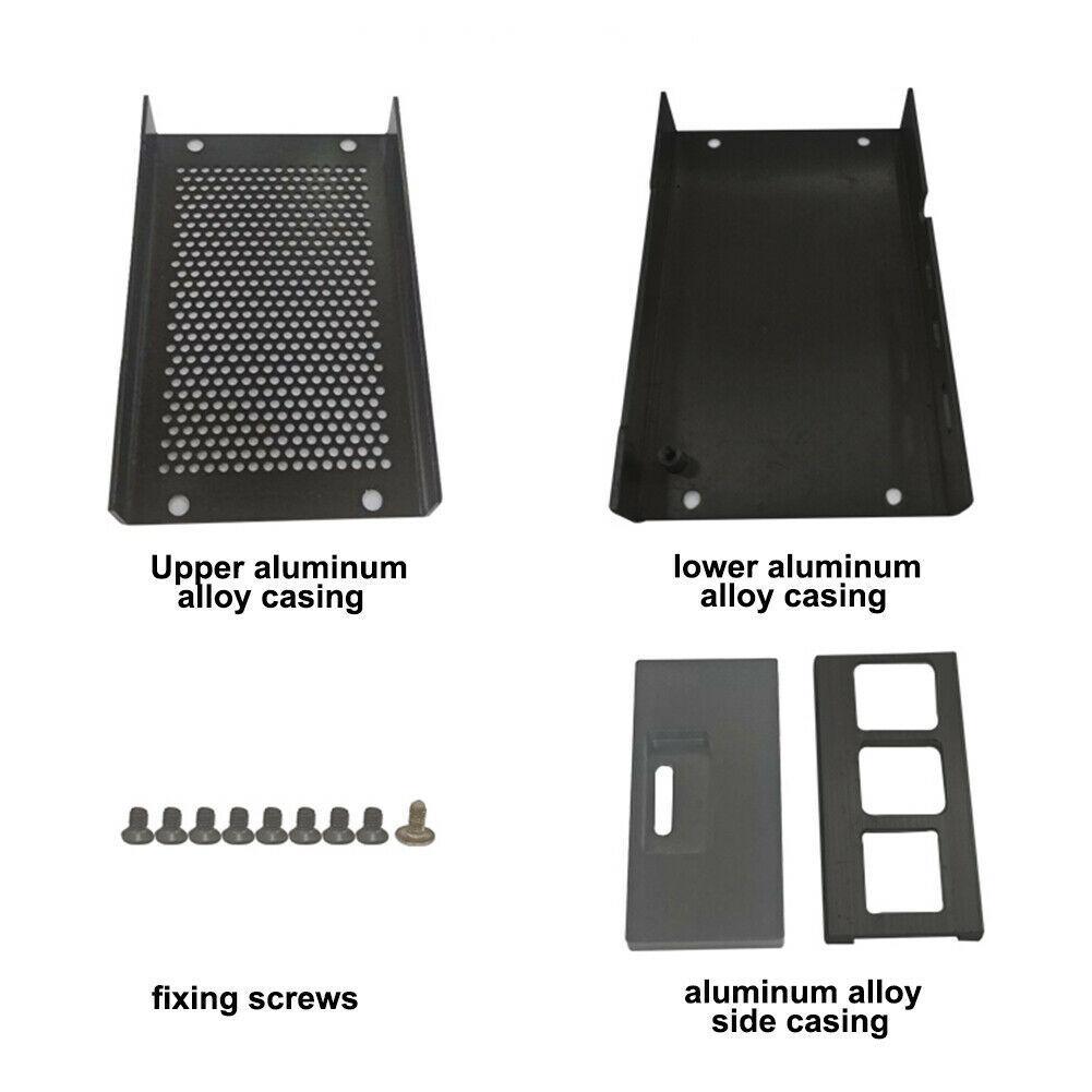 aluminum alloy Aluminum Alloy Metal Case Cooling Heatsinks Black Silver Fit For Raspberry Pi 4 Metal Enclosure Protective Box Shell Case (3)
