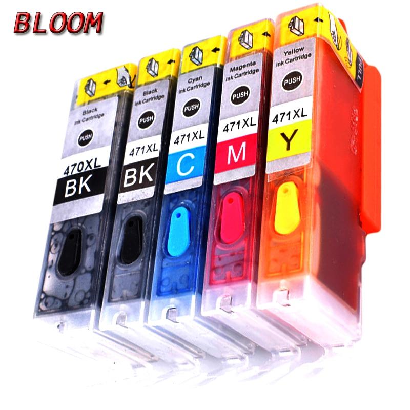 For CANON MG6820 MG6821 MG6822 Refillable Ink Cartridge Empty PGI-270 271 5pcs