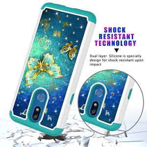Image 4 - גליטר יהלומים מקרי טלפון עבור LG K40 K12 בתוספת מחשב סיליקון היברידי מקרה עבור Google פיקסל 3a 3a XL אופנה חזרה כיסוי אבזרים