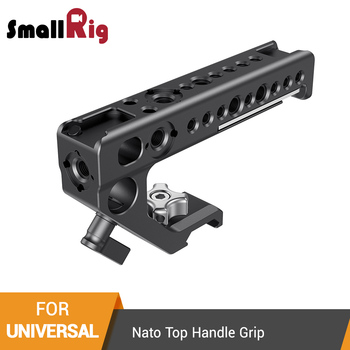 SmallRig Universal Nato Top Handle Grip With Cold Shoe Mount/15mm Rod Clamp/Arri Holes For Camera Cage With Nato Rail - 2439 camera cage protecting case mount with top handle grip for panasonic lumix gh5 camera photo studio kit