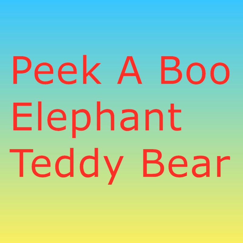 30cm Peek A Boo Elephant Teddy Bear Plush Toy