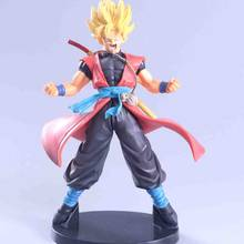 Tipos de Anime Dragon Ball Z Super Alma X Alma Goku Son Goku Trunks Preto PVC Figuras Brinquedos Modelo(China)