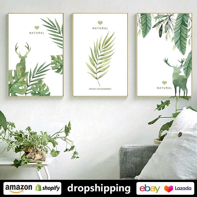 Bilder Drucke Wall Art For Bedroom Canvas Prints Artwork Bathroom Wall Decor Green Plants Wood Mobel Wohnen
