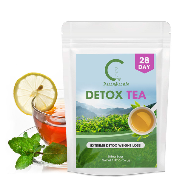 GPGP Greenpeople <font><b>28</b></font> <font><b>Days</b></font> Extreme <font><b>Detox</b></font> <font><b>Tea</b></font> 100% Natural Fat Burner Effective Anti Cellulite For Women&Men Body Cleaner 15Pcs image
