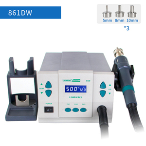 Original 1000W220/110V QUICK 861DW HeatGun Lead Free Hot Air Soldering Station Microcomputer Temperature Rework Station+3nozzle