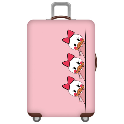 HMUNII карта мира, дизайнерский защитный чехол для багажа, Дорожный Чехол для чемодана, эластичные пылезащитные Чехлы для 18-32 дюймов, аксессуары для путешествий - Цвет: L-Luggage cover