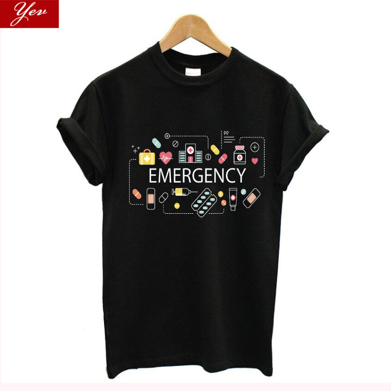 Medical Science Graphic Funny T Shirt Women Cotton Biology Hospital Emergency Tshirt Summer Streetwear Novelty Tee Shirt Homme