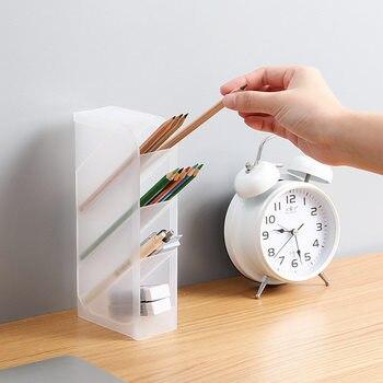 4 rejillas subrejilla maquillaje cosmético soporte escritorio lápices organizador creativo multifunción 4 rejillas de escritorio cajas de almacenamiento de los casos