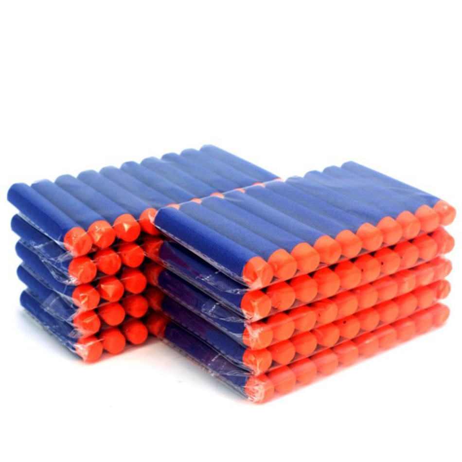 100PCS 7.2cm Hollow Round Head With Holes Soft Bomb Eva Foam Suction Plate Play Dark Blue Elite Soft Bomb For Nerf Toy Bullet
