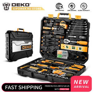 DEKO Household-Tool-Set Wrench-Screwdriver Tool-Box Hammer-Socket Storage-Case Combination