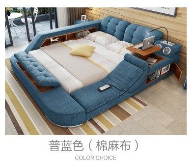 Europe and America fabric cloth bed massage Modern Soft Beds Home Bedroom Furniture cama muebles de dormitorio / camas quarto 5