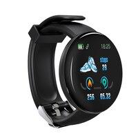 Tela colorida relógio inteligente freqüência cardíaca pressão arterial saúde faixa de fitness esporte pulseira unisex tt @ 88 2