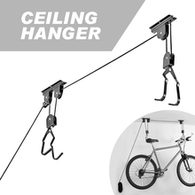 Bike Hanging Storage Rack Bicycle Roof Wall Mount Bike Hook Holder Ceiling Hook Pulley Hoist Max Load-bearing 25kg bike bicycle lift ceiling mounted hoist storage garage hanger pulley rack bicycle accessories lift assemblies