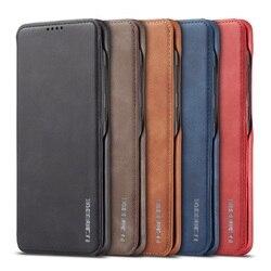 Luksusowe skórzane etui z klapką do Samsung Galaxy Note 10 + 9 8 S8 S9 S10 S20 Plus S10e S20 Ultra S7 krawędzi A50 A70 A30 A20 A11 A71 A51