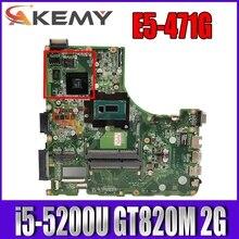 DA0ZQ0MB6E0 ZQ0 материнская плата для ноутбука ACER E5-471 E5-471G V3-472P Материнская плата ноутбука Процессор i5 5200U GT820M 2G DDR3 100% тесты работы