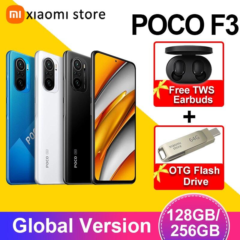 Глобальная версия POCO F3 5G 6 ГБ 128 ГБ/8 ГБ 256 Гб Смартфон Snapdragon 870 Octa Core 6,67