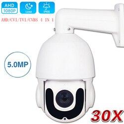 CCTV bezpieczeństwa na zewnątrz wysoko prędkości kopuła AHD 1080P kamera PTZ CVI TVI CVBS 4w1 2MP 5MP 30X Zoom koncentryczne sterowanie PTZ dzień noc IR