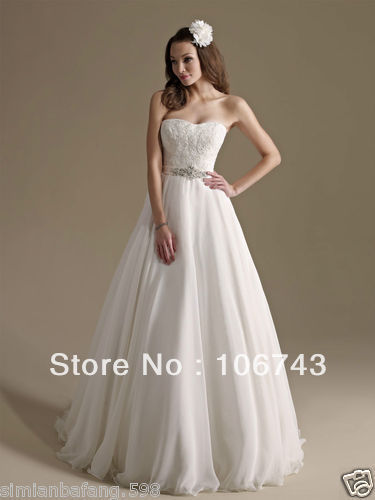 Free Shipping 2018 Rhinestone Sweetheart Belt New Style Chiffon Embroider Lace Brides Bridal Gown Custom Bridesmaid Dresses