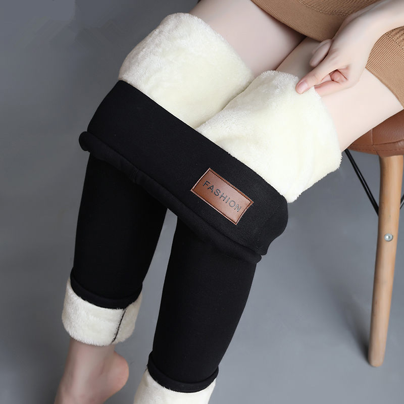New Leggings Autumn Winter Plus Velvet Leggings Women Thick Fleece Wool Black Thermal Pants Plus Size Women Winter Warm Trousers