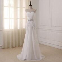 Jiayigong Boho Brautkleider Schatz Sleeveless Vestidos de Noiva Falten Sweep Zug Sommer Strand Hochzeit Kleid Plus Größe