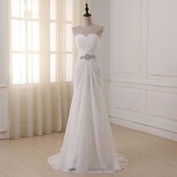 Jiayigong Boho Wedding Dresses Sweetheart Sleeveless Vestidos de Noiva Pleats Sweep Train Summer Beach Wedding Dress Plus Size - DISCOUNT ITEM  35 OFF Weddings & Events