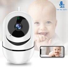 Детский монитор, Wi-Fi, детский видео монитор, облачное хранилище, мобильный телефон, дистанционное управление, двухстороннее аудио, детская плачевая сигнализация, камера безопасности