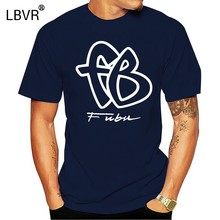 90S Fubu FB Besar LOGO Cotton Cotton T-shirt Ukuran S - 5XL(China)