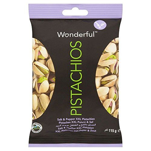 Wonderful XXL Pistachios - Salt & Pepper (115g) - Pack Of 2