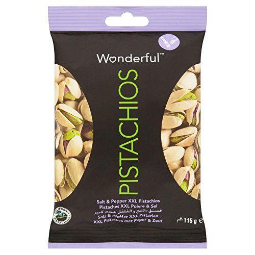 Wonderful XXL Pistachios - Salt & Pepper (115g) - Pack Of 2