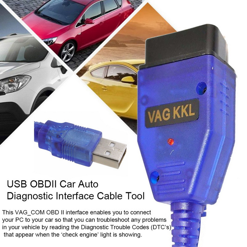 Car Auto <font><b>OBD2</b></font> USB Cable <font><b>VAG</b></font>-<font><b>COM</b></font> KKL <font><b>409.1</b></font> Auto Scanner Scan Tool For Seat Diagnostic Tools Car Styling image