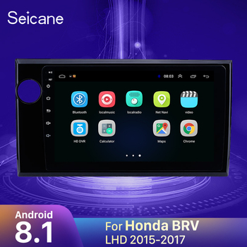 Seicane 9 inch Android 8.1 Car Stereo Radio Head Unit GPS Navi for 2015 2016 2017 Honda BRV LHD Support OBD2 Rearview Camera image