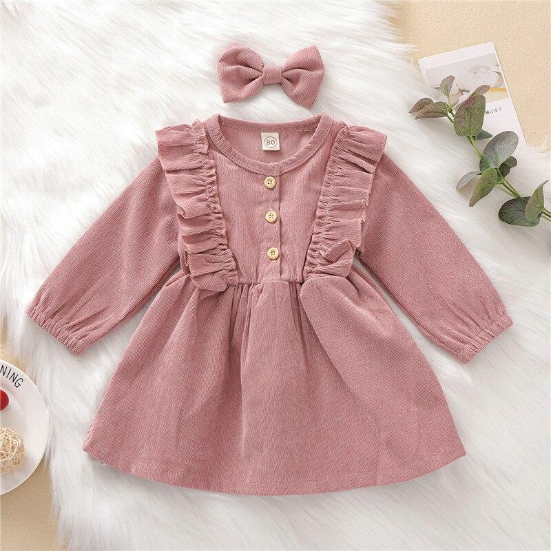 Для маленьких девочек одежда для детей платье с длинными рукавами на весну для маленьких комбинезон платье Вечерние милые Платье принцессы...