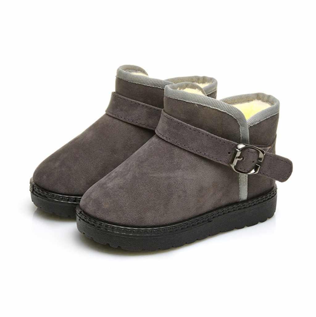 2019 Phong Cách Mới Mùa Đông Trẻ Em Trẻ Em Cho Bé Gái Màu Kẹo Chắc Chắn Ấm Cổ Ngắn Tăng Tuyết Bootie Giày bota infantil trẻ em giày