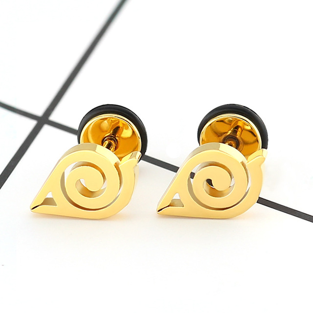 1 Pair Stainless Steel Naruto Anime Stud Earrings Ear Jewelry Gifts Body Piercing Screw Back Earrings.jpg 640x640 - 1 Pair Stainless Steel Naruto Anime Stud Earrings Ear Jewelry Gifts Body Piercing Screw Back Earrings for Men Women