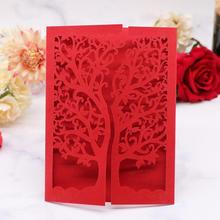 100pcs Chinese Red Invitation Card For Wedding Mother's Day Festival Wedding Engagements Design,RSVP Cards rsvp