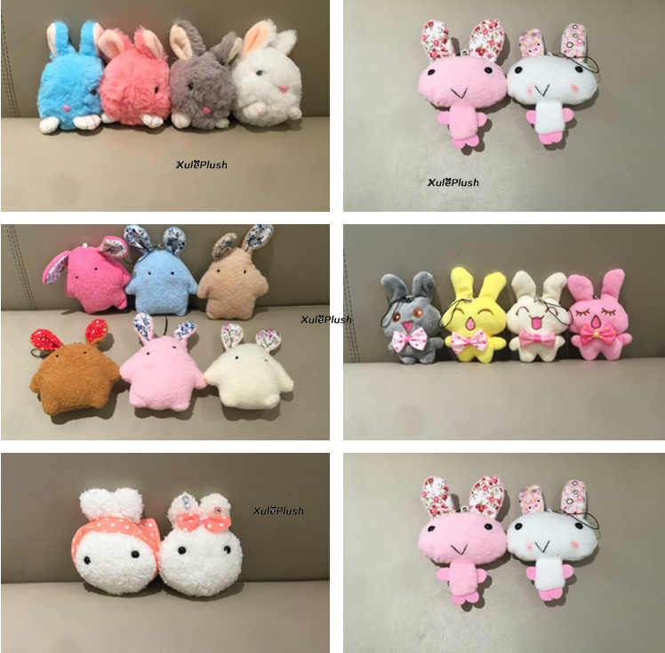 Sweet 1X Random Color 4-9CM Approx. Rabbit Plush Stuffed Animal TOY DOLL , Children's Party Gift Plush Toys